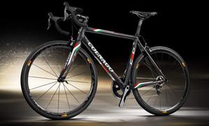 Colnago C60 yarış Yol karbon komple Bisiklet siyah COLNAGO gidon COLNAGO şişe kafesleri 50mm karbon tekerlek seti