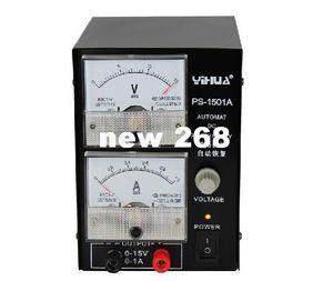Freeshipping YIHUA 1501A 15V 1A 조정 가능한 DC 전원 공급 장치 휴대 전화 수리 전력 테스트 조정 된 전원 공급 장치