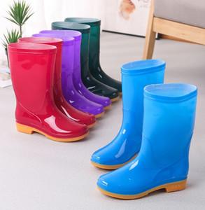 여성 패션 캐주얼 장화 아가씨 공장 직접 판매 물 신발 여성의 미끄럼 방지 마모 야외 사계절 고무 shoeses