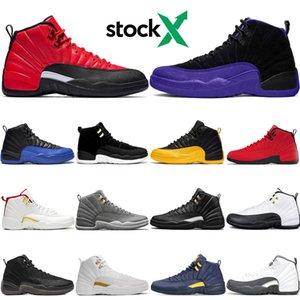 Stok X 2020 Yeni Ters Grip Oyun 12s Erkekler Basketbol Ayakkabı 12 Koyu Concord Oyun Kraliyet Üniversitesi Altın Mens Eğitmenler Tasarımcı Sneakers