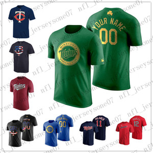 Custom T-Shirt Mens women youth MinnesotaTwins25 Buxton 24 Donaldson red blue black Authentic Weekend 2020 Home Jersey