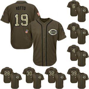19 Joey Votto 8 Joe Morgan 39 Devin Mesoraco Phillips 6 Billy Hamilton Jersey de béisbol de encargo