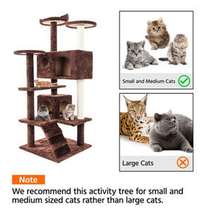 Deluxe 52 pouces Cat Tree Condo Meubles Kitten Activité Tour Pet Kitty Play House Hot Point