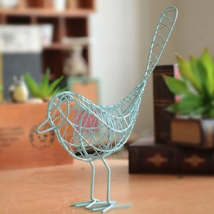 Metal Iron Wire Bird Hollow Model Artificial Craft Fashionable Home Furnishing Table Desk Ornaments Decoration Gift Drop Shiping