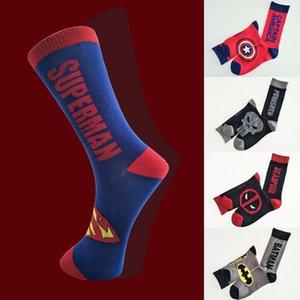 Lettera Socks 5 di stile degli uomini di modo calza colorata di supereroi fumetto felice Avengers Batman Marvel Comics Marvel unisex calza UJJ145