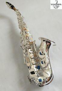 YANAGISAWA S-901Curved Sopran Saxophon Versilberung Messing Saxophon Mundstück Patches Pads Schilf beugen Hals mit Etui