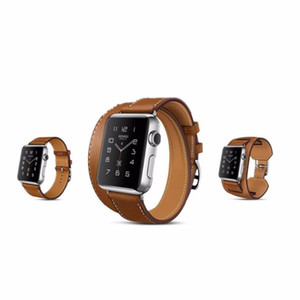 Apple için 3 Modeller Hakiki Deri watch band kayışı izle 38mm 42mm iwatch 1 için bilezik izle Deri kordonlu saat 2