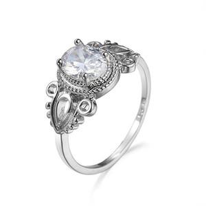 1шт женщины свадьба обручальное ювелирные изделия Кристалл посеребренные кубического циркония полые цветочные кольца нам 6,7,8,9,10 хороший подарок