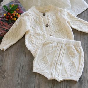 niños Ropa para los bebés de la ropa de diseño infantil del muchacho del juego del suéter de punto de algodón pone en cortocircuito la rebeca de los niños lleven ropa casual de ropa