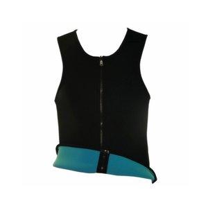 TTX42-12 Männer Sweat Vest Neopren Abnehmen Taille Trainer Belly Fat Burning Weight Loss Body Shaper Korsett XIN-Shipping Zip