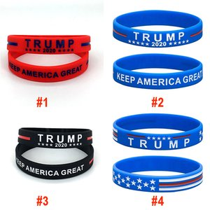 Donald Trump 2020 Silikon-Armband Keep America Großer Armband US General Election Bangle Soft-Sport Band 2 Styles