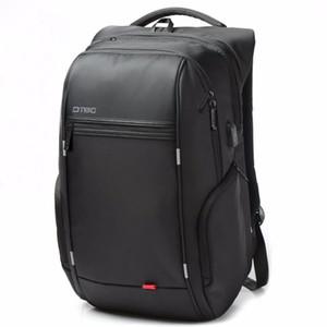 Uomini zaino Maschio 15.6 pollici Laptop Backpack ricarica USB stile casuale sacchetto impermeabile Uomini Donne Anti ladro multifunzione