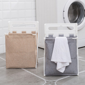 Foldable Laundry Basket Organizer Moisture-Proof Laundry Hamper Sorter Dirty Clothes Storage Bag Detachable Family Use Home Tool