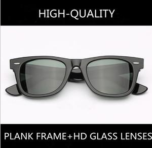 óculos de sol unissex prancha acetato de lentes de vidro HD retro-vintage UV400 caso full-set clássica de alta qualidade para prescrição óculos de sol baratos