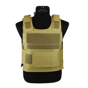 Alta Qualidade Black Hawk Esportes Vest Para Baixo Body Armor Placa Tactical Carrier Colete CB Camo Woodland Caça Combate CS