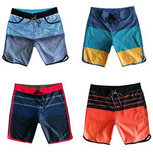 Мужчины Пляж шорты Swimwear лето Printed Elastic Swim Shorts Quick Dry Straight Сыпучие Boardshorts Bermuda водонепроницаемый Surf шорты