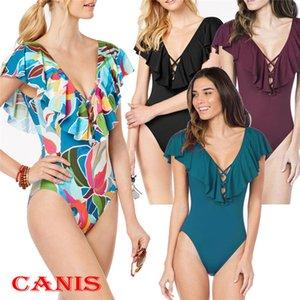 غلان المرأة قطعة واحدة ملابس السباحة دفع ما يصل Monokini ملابس السباحة بيكيني ملابس السباحة سيدة البوب الصيف السباحة ملابس السباحة دعم بالجملة