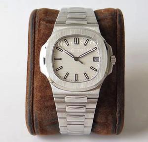 Nuovi uomini di orologio automatico del Mens Cal.324 SC Data Bianco quadrante nero Men Eta 5711 Platinum Watches PPF 40mm di fabbrica da polso Transparent