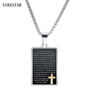 Çapraz kolye İçin Erkekler Bizans Paslanmaz Çelik Zincir Christian Black Gold Kutsal kolye Erkek Punk Rock Süsler