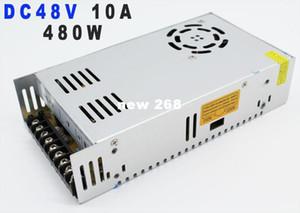 Freeshipping один выход импульсный источник питания для светодиодные полосы AC110v 220 В до DC48V 10A 480 Вт трансформатор напряжения регулируемый источник питания 48 в
