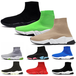 2020 new platform designer sock shoes speed trainer mens womens socks casual shoes vintage tripler black white étoile boots luxury sneakers
