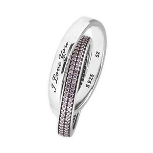 CKK Ring Pink Sweet Promise Rings for Women Men Anillos Mujer Anel Bague Femme Wedding Engagement 925 sterling silver Jewelry