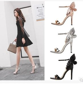 Meilun dream wing heels exquisite embroidery three-dimensional butterfly peep-toe high heels fashion sandals for ladies