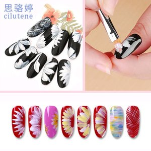 Polishing Tips Manicure Painted Pen Wooden Nail Brushes Carved Flower Petal Pen Multifunctional Nail Paint Makeup Tools