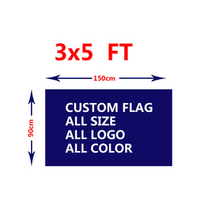 Custom Flags 3x5ft 150x90cm Digital Printed Free Design 100D Polyester Sports Team Hanging Advertising Outdoor Indoor, Free Shipping
