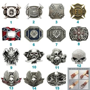 New Skull Firefighter Belt Buckle Mix Styles Choice Stock in US Each Buckle is Unique Choose Your Favorite Buckle Design