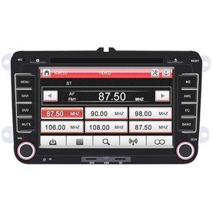 2 DIN 7 polegadas HD Capacitive Touch Screen Bluetooth Car MP5 GPS Navi Player com RDS + Camera Fit para Volkswagen VW Skoda CMO_236