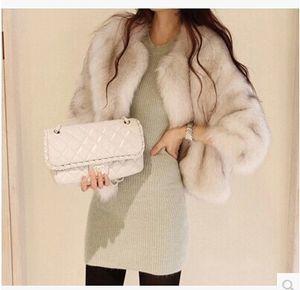 La Corea del Sud libera delle donne shipping2014 si comporta come l'agenzia d'acquisto di breve cappotto di pelliccia d'imitazione autentico ricopre la pelliccia lunga sulla vendita