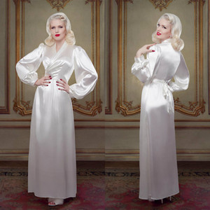 Ivory Bridal Bathrobe Sleepwear Nightgown Evening Party Bathrobes Pyjams Robes Luxury Bride Sleepwear Bath Robes Women Pajama Boudoir Dress