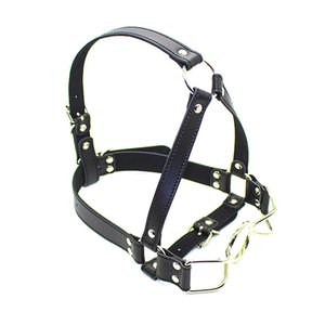 bdsm gag head harness open mouth gags device bondage gear flirting sex product toys for women GN222402033-XLF