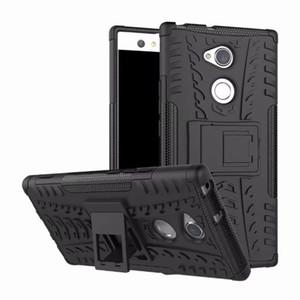 Гибридный Kickstand прочный резиновый броня ТПУ+ПК 2 в 1 задняя крышка телефона для Sony Xperia XZ2 компактный XZ2 Premuim XA2 плюс XA2 ультра