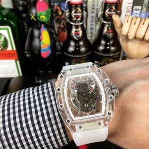 RM056 RM012 RM011 Transparente Assista NH Automatic Man Movimento NTPT Carbon Fiber Sapphire vidro 24 Jewelry