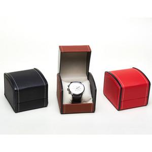 cajas de almacenaje de la PU reloj de la exhibición de cuero bolsas de regalo caja de almacenamiento de exquisita bienes joyero reloj sostenedor de la caja del favor de fiesta LJJA3621-2