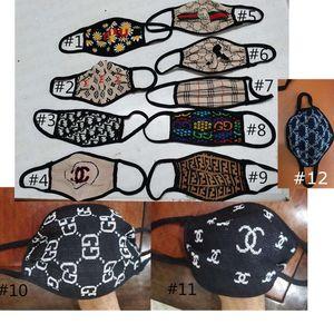 Luxus-Gesichtsmaske Designer Masken Breathable Abdeckung Mundantistaub Winddichtes schützende Schablonen-Frauen Staubdichtes Warmer Radfahren E41101 Maske