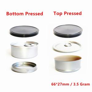 3.5G Настройка консервных банок SmellProof анти утечки сухой травы цветок упаковки Tinplate случае машина Герметичный ручной нажимается Tin Can Box с крышкой