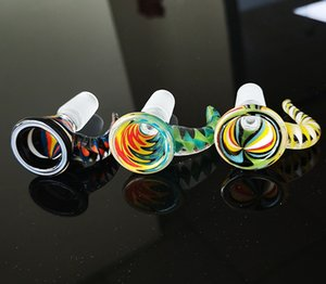 New Colorful Heady Glass Bowl 14mm Male Joint Oil Dab Rigs Glass Bowls For Water Pipe Smoking Accessories