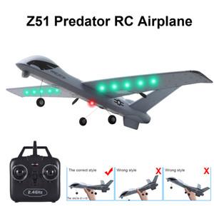 RC самолет Самолет Z51 20 минут Время полета планер 2.4 G летающая модель со светодиодной рукой бросание размах крыльев пены самолет игрушки для детей Y200413