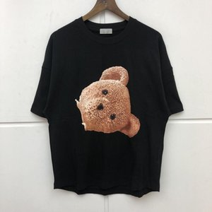 2020ss splams angels Decapitated Bear icon design loose T-shirt Men Women high Quality fashion Washed Top Tees M-XL sggw51989#