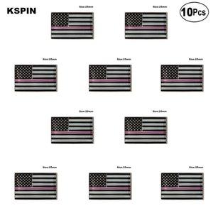 U. S. A Polizei Rosa Revers Pin Flagge Abzeichen Brosche Pins Abzeichen 10 Stücke Viel
