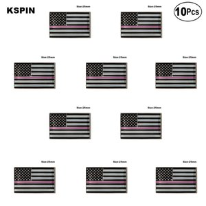 U. S. A Police Rose épinglette drapeau badge broche Pins Badges 10 pcs un Lot