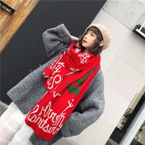 Neckerchief Christmas Soft Scarves Women Knitted Warm Wild Shawl Scarf Autumn And Winter Fashion Scarf 2020 z3