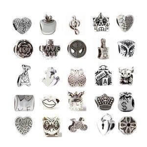 Mix По крайней мере 33 Стиль Сплава Шарм Бисера Мода Ювелирные Изделия Европейский Стиль Для Пандоры Браслет Продвижение