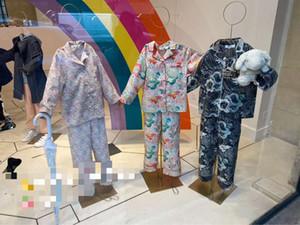 Nova Crianças Meninos Meninas Pajama Define T-shirt com calças longo da luva da criança roupa do bebê dormir proprietário Tops Pijamas