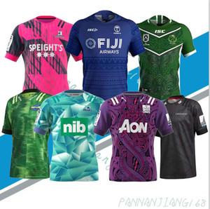 рубашка 2020 Фиджи Hurricane крестового Хайленд Главного Блюз Супер Регби NRL JerseyMustang тренировка одежда для взрослых мужчин