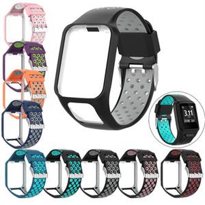 9 색 TomTom 러너 2 3 스파크 3 교체 용 실리콘 밴드 스트랩 통기성 밴드 GPS 시계 액세서리 VS Fitbit Charge 2 Strap