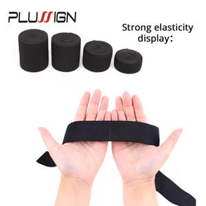5 metros de ancho 1.5-4 cm negro banda elástica para pelucas Spandex Cinturón de ajuste Costura / cinta Ropa Flex Costura Material bandas elásticas peluca